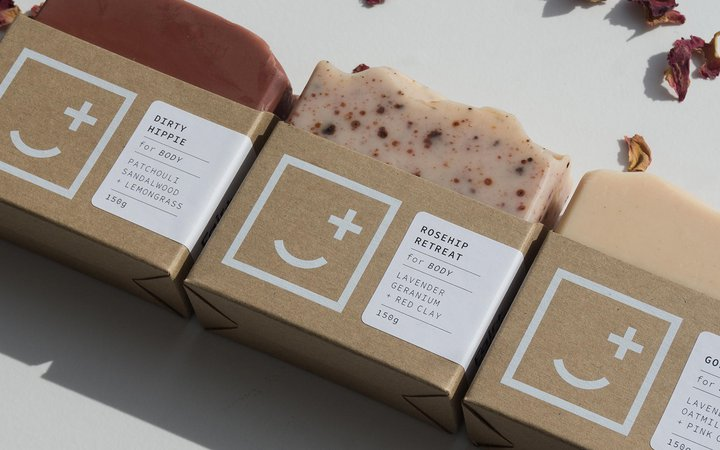 Fair Square soapery packaging