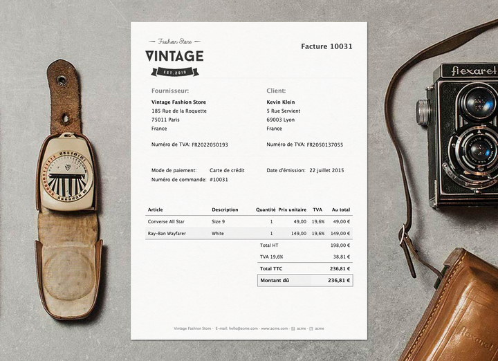 Invoice French