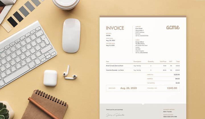 Sufio invoices for crossborder ecommerce